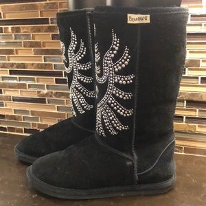 BearPaw studded royal design winter boots